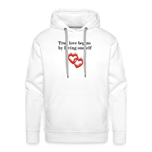 LOVE YOURSELF - Sudadera con capucha premium para hombre