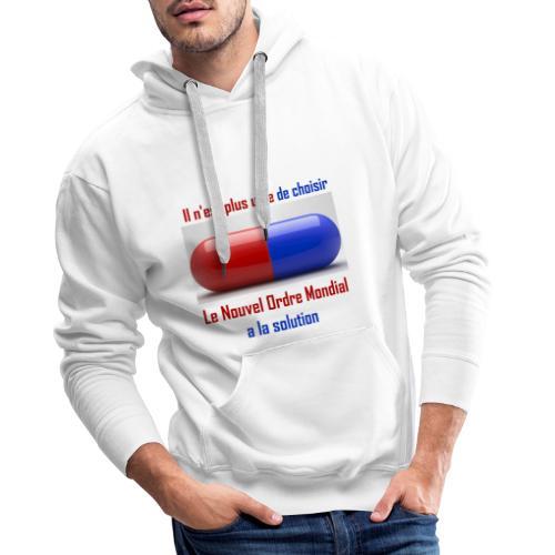 Une seule pilule désormais - Sweat-shirt à capuche Premium pour hommes