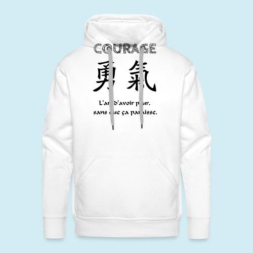 Courage - Sweat-shirt à capuche Premium pour hommes