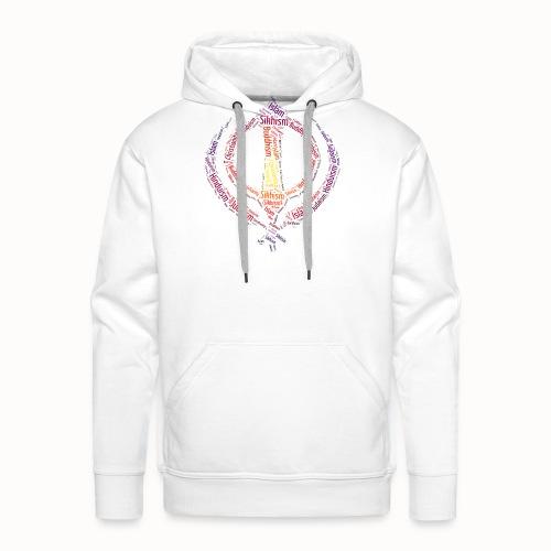 T-shirt sikh khanda encompassing world religions - Men's Premium Hoodie