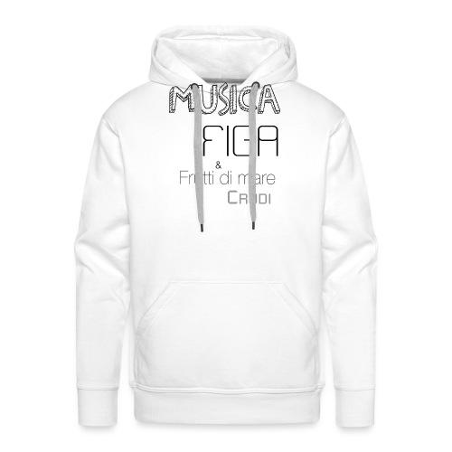 Musica F&F - Felpa con cappuccio premium da uomo