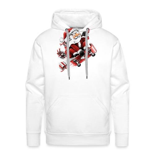 Santa Skateboarding - Men's Premium Hoodie