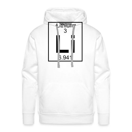 Lithium (Li) (element 3) - Men's Premium Hoodie