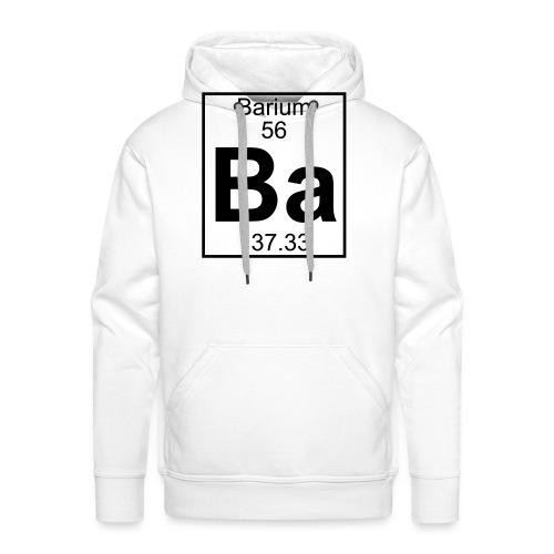 Barium (Ba) (element 56) - Men's Premium Hoodie