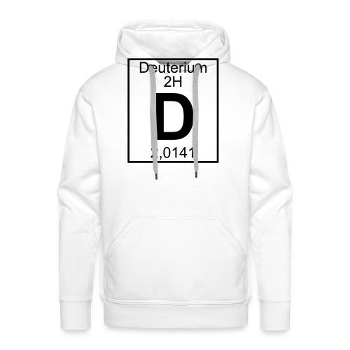D (Deuterium) - Element 2H - pfll - Men's Premium Hoodie