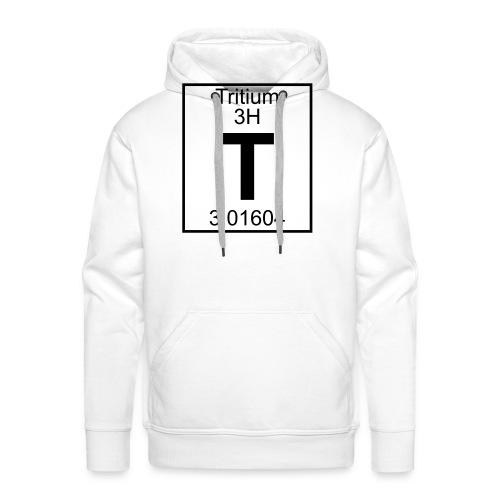 T (tritium) - Element 3H - pfll - Men's Premium Hoodie