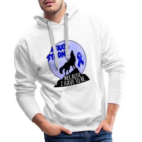 Ataxia fuerte - Sudadera con capucha premium para hombre