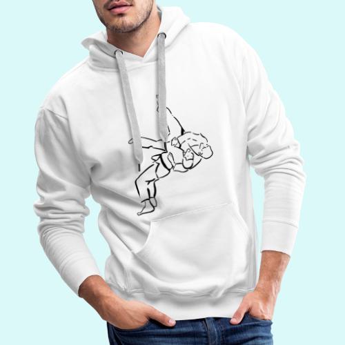 judo - Sweat-shirt à capuche Premium pour hommes