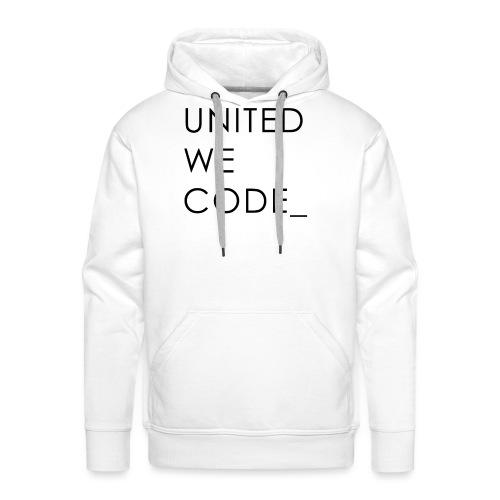 United We Code - Sweat-shirt à capuche Premium pour hommes
