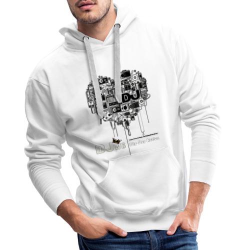 Design Music DJ WB Hip Hop Nation - Sweat-shirt à capuche Premium pour hommes