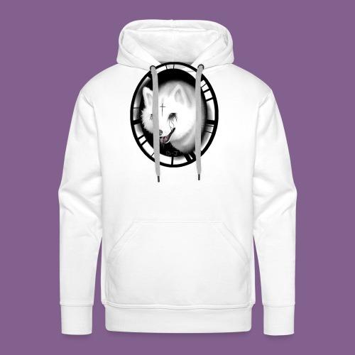 Krist White Wolf - Sudadera con capucha premium para hombre