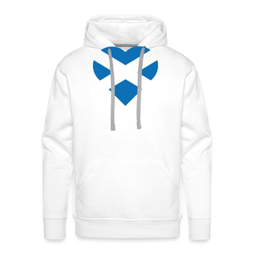 Flag of Scotland - The Saltire - heart shape - Men's Premium Hoodie