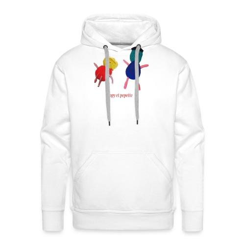 papy pepette - Sweat-shirt à capuche Premium pour hommes