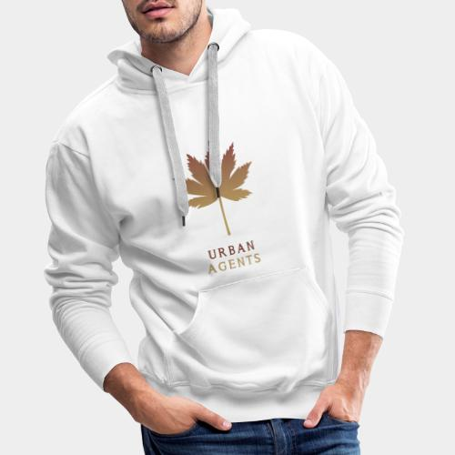 Urban Agents Herbstblatt - Männer Premium Hoodie