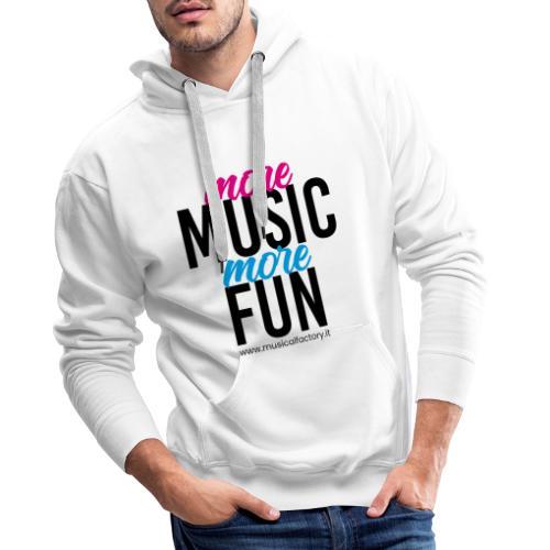 More Music More Fun - Felpa con cappuccio premium da uomo