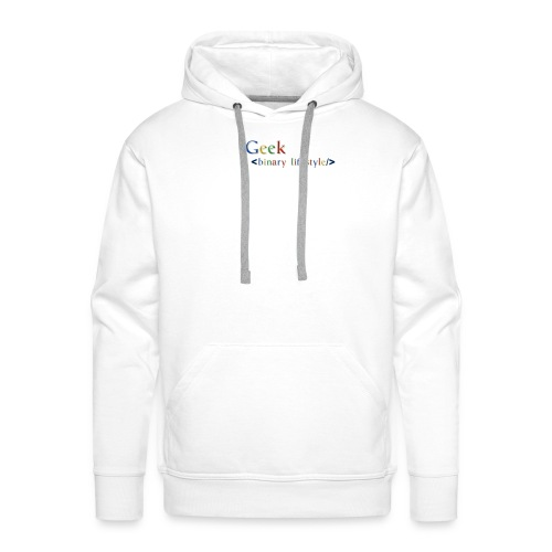 geek_life_style_google_font - Sudadera con capucha premium para hombre