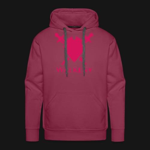 Das Walkeny Logo mit dem Schwert in PINK! - Männer Premium Hoodie