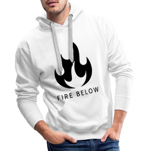 Fire Below EP Design - Black - Men's Premium Hoodie