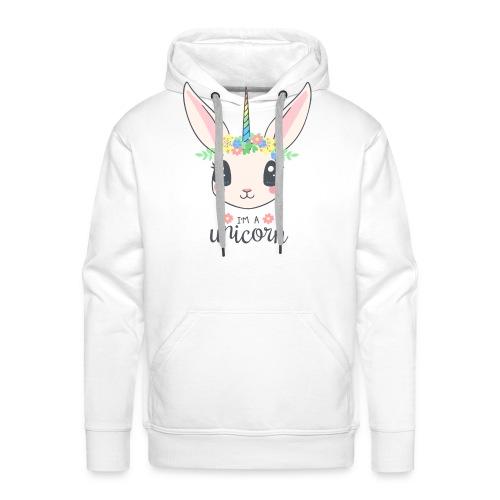 Einhorn Hase - Männer Premium Hoodie