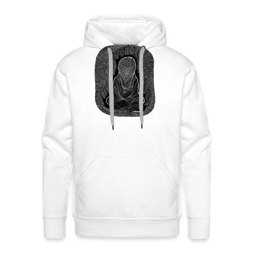 bouddha blanc - Sweat-shirt à capuche Premium pour hommes
