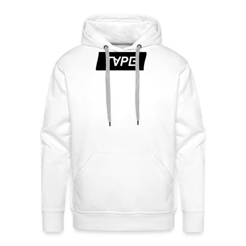 TAPE SHAPE BLACK - Mannen Premium hoodie