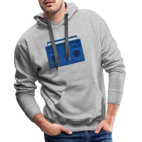 Bestes Stereo blau Design online - Männer Premium Hoodie