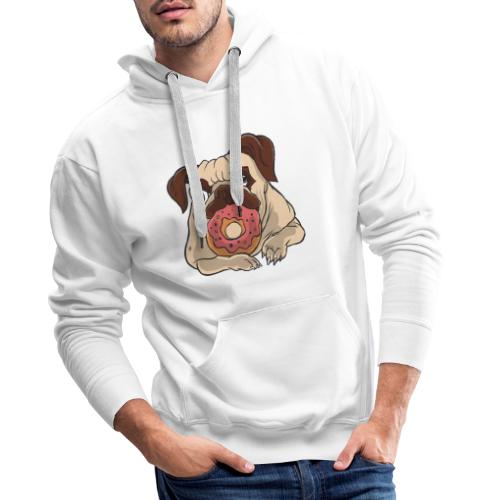 Beste Hund Hunde donut Mops - Männer Premium Hoodie