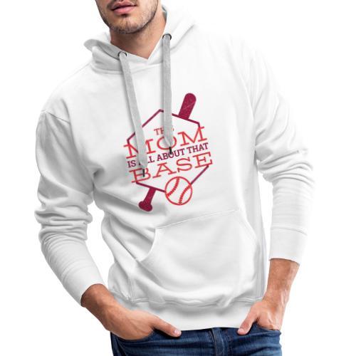 Bestes Baseball Mamma Design - Männer Premium Hoodie