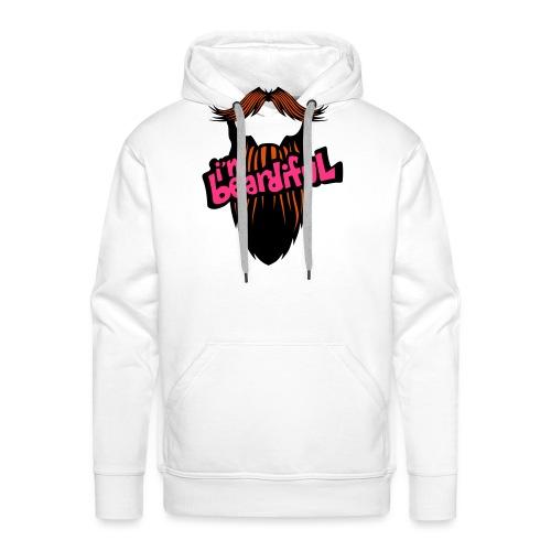 citation barbe i m beardiful barbu humou - Sweat-shirt à capuche Premium pour hommes