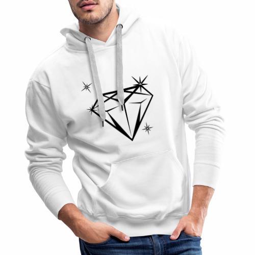 diamonds_blanco - Männer Premium Hoodie