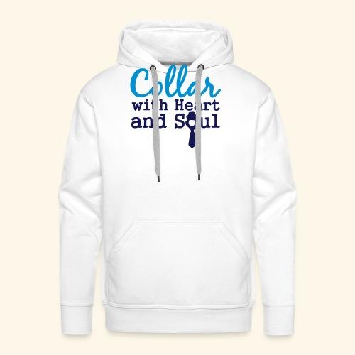 Collar with Heart Soul White Collar Shirts - Men's Premium Hoodie
