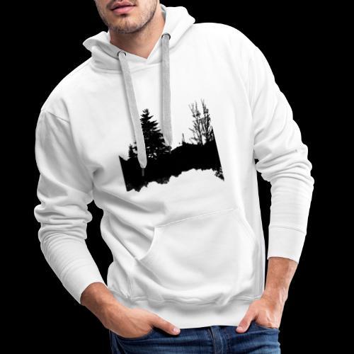 Sapin et racines - Sweat-shirt à capuche Premium pour hommes