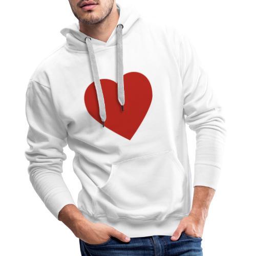 Herz Liebe - Männer Premium Hoodie