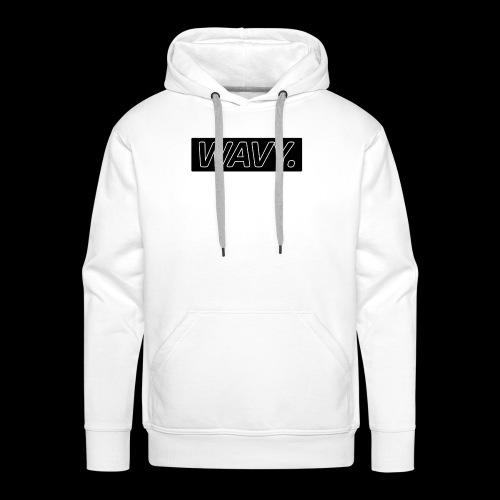 BLACK WAVY. RECTANGLE - Sweat-shirt à capuche Premium pour hommes