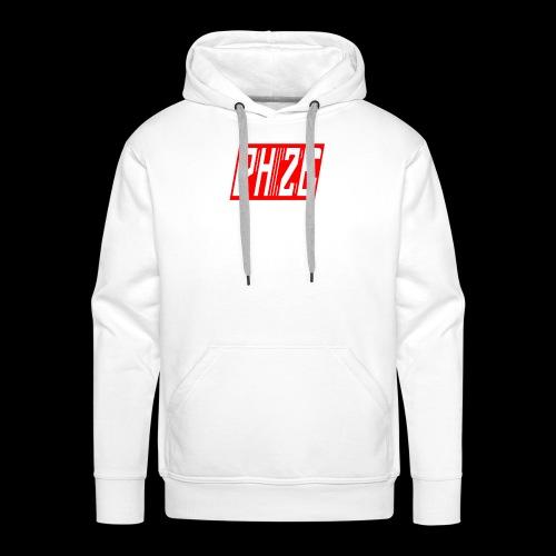 PHIZE ROUGE LOGO - Sweat-shirt à capuche Premium pour hommes