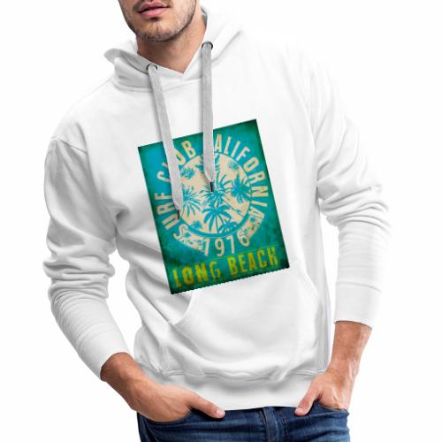 Long Beach Surf Club California 1976 Gift Idea - Men's Premium Hoodie