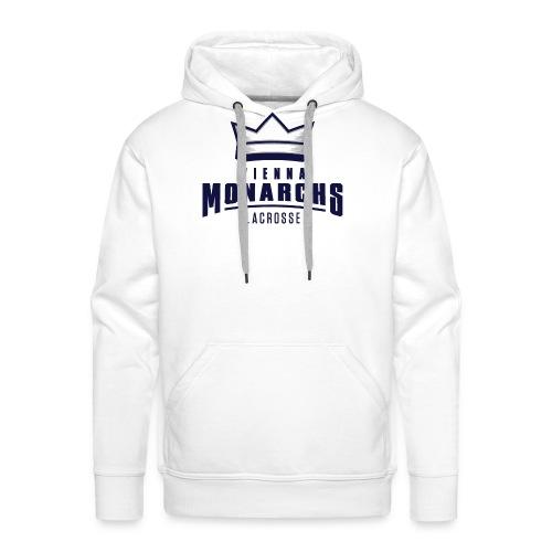Logo Vienna Monarchs Lacrosse Blau - Männer Premium Hoodie