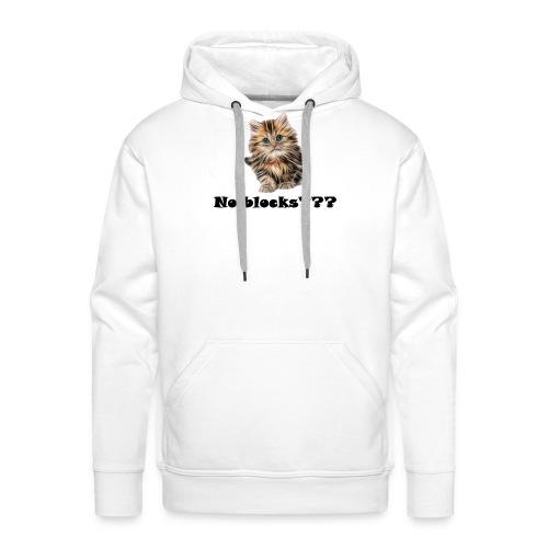 No block kitten - Premium hettegenser for menn