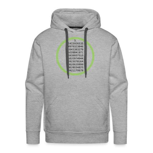 Number Pi Green Circle - Miesten premium-huppari