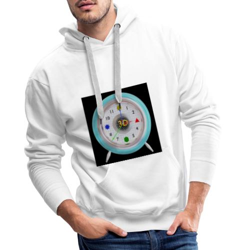 3D O' Clock with 3D engine and objects. - Men's Premium Hoodie