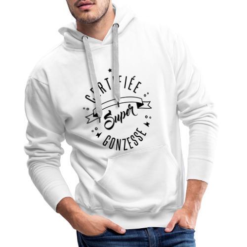 certifiée super gonzesse - Sweat-shirt à capuche Premium pour hommes
