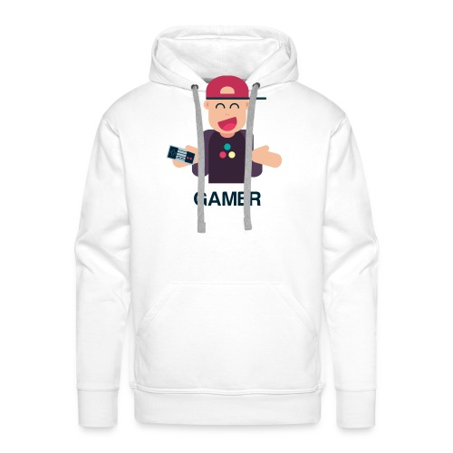 Friendly Gamer - Sweat-shirt à capuche Premium pour hommes