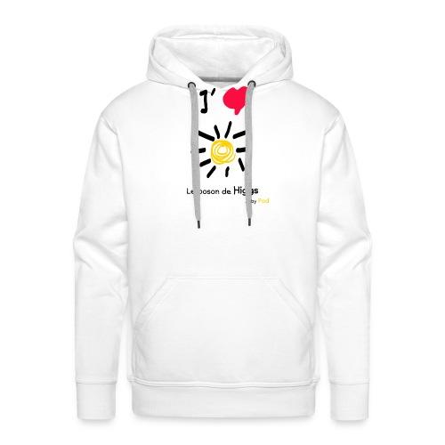 I love le boson de Higgs - Sweat-shirt à capuche Premium pour hommes