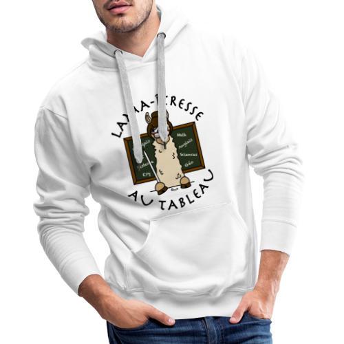 Lama-îtresse, tableau, maîtresse, cadeau, vacances - Sweat-shirt à capuche Premium pour hommes