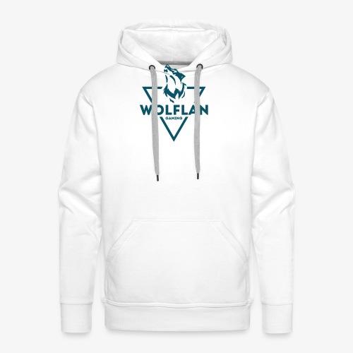 WolfLAN Logo Gray/Blue - Men's Premium Hoodie