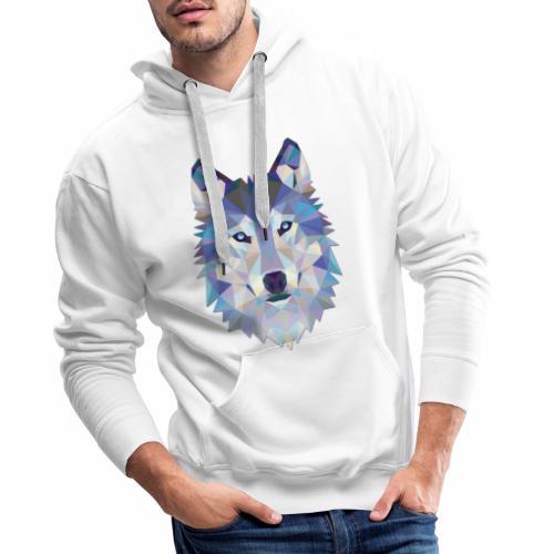 Loup Origami - Sweat-shirt à capuche Premium pour hommes