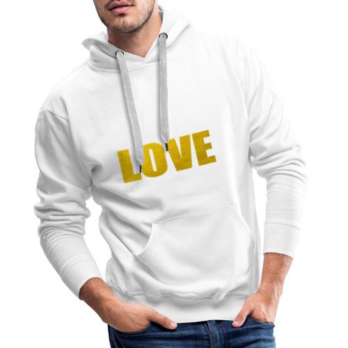 LOVE YELOW - Sudadera con capucha premium para hombre