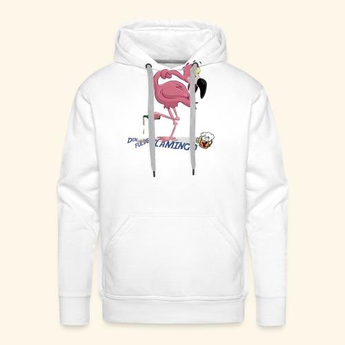 Den fulde flamingo - Herre Premium hættetrøje