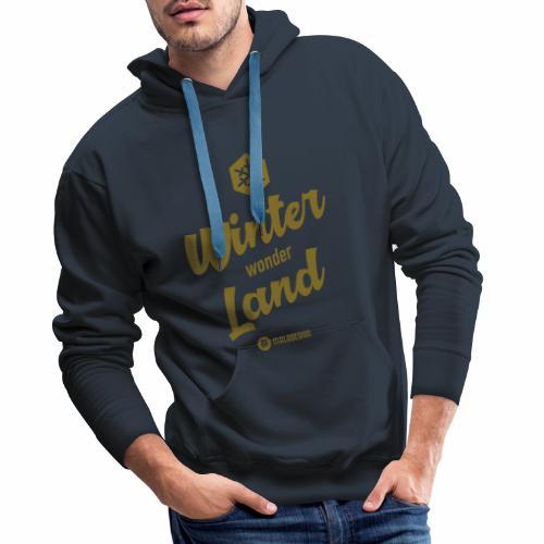 Winter Wonder Land - Miesten premium-huppari
