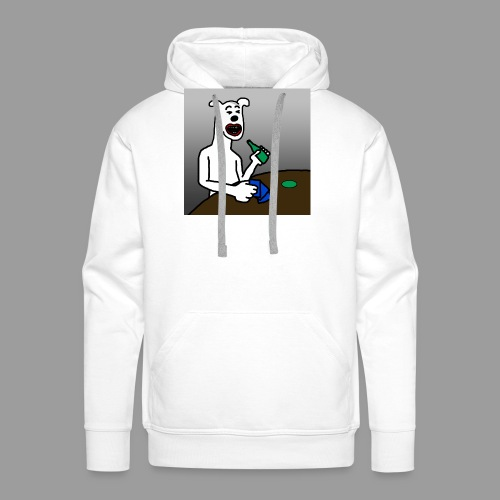 PoopyPoops in het cafe - Mannen Premium hoodie